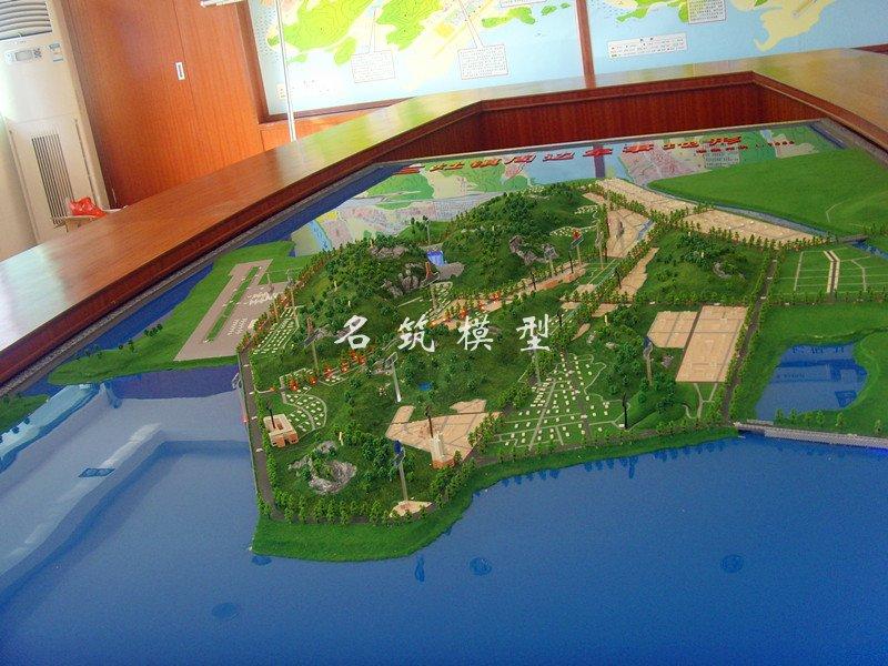 三灶镇周边军事地形沙盘